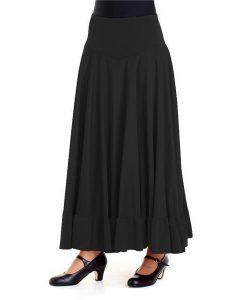 Dansetøj nederdel med flæse