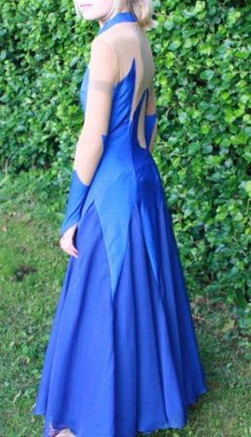 Blå standardkjole