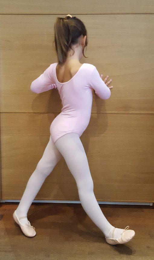 balletdragt med lange ærmer