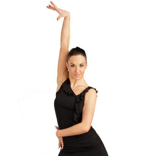 Dansetop med flæse-0