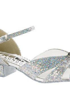 Sølvsko Shimmer til latindans / standarddans