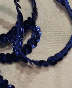 Pailletbånd enkelt blå-0