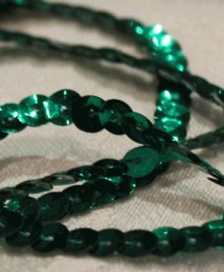 Pailletbånd enkelt grøn-0