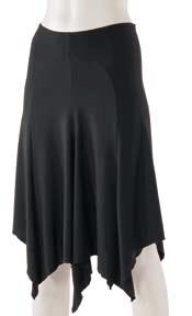 Knælang nederdel-0