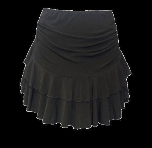Nederdel med flæser