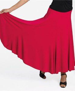 Dansetøj nederdel med svaj rød